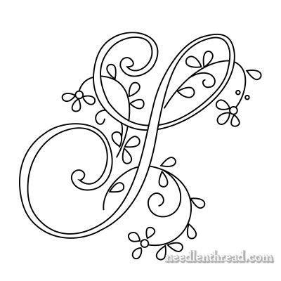monograms for embroidery delicate spray s t u v bordados bordado bordar letras y