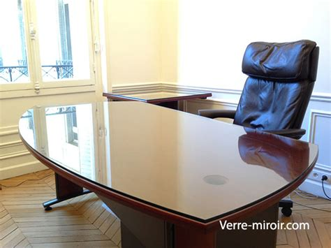protection bureau verre verre securit pour table table de lit