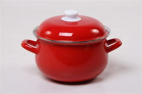 agate enamel red pots bv cookware