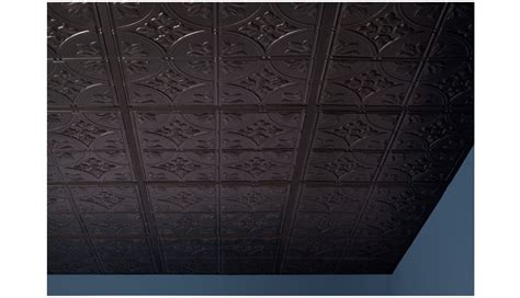 2x2 ceiling tiles black antique 2 x 2 black box of 12