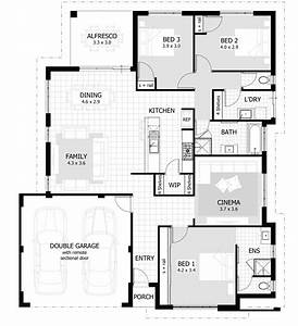 Decoration besf of ideas cute house interior design plans for Layout for 4 bedroom house