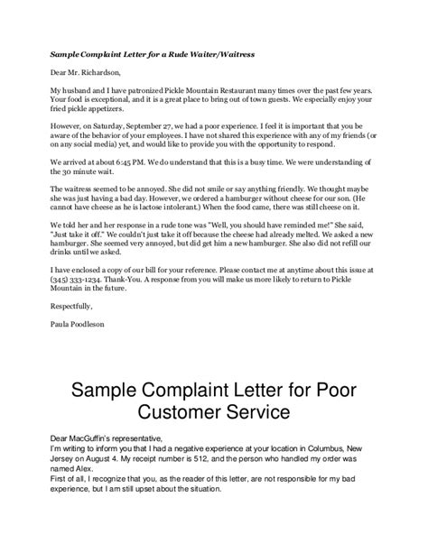 business letter sle complaint 28 images formal