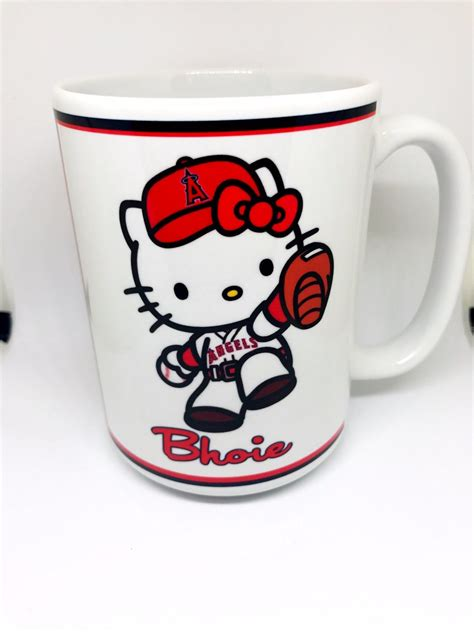 All products from hello kitty coffee mugs category are shipped worldwide with no additional fees. Personalized Hello Kitty Los Angeles Angels Coffee Mug - Hidden Hand Graphics