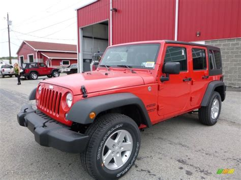 red jeep 2016 firecracker red 2016 jeep wrangler unlimited sport 4x4