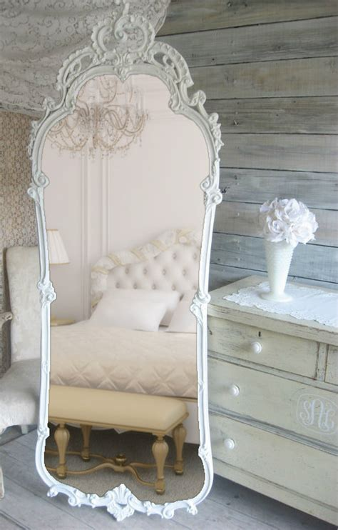 shabby chic bedroom mirror french provencal leaning mirror vintage shabby chic cottage chic shabby vintage and mirror