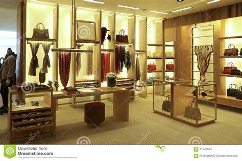 clothing  accessories boutique interior stock image