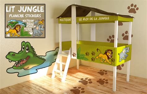 chambre garcon jungle lit garcon jungle