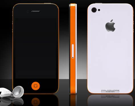customize iphone colorware offering custom painted iphone 4 with antenna