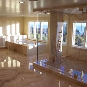 Stunning marble bathroom follow mega mansions master for Bathroom porm