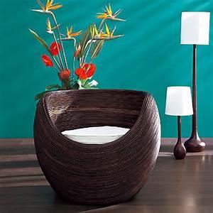 Fauteuil Cocon Suspendu : fauteuil en rotin cocon table de lit ~ Teatrodelosmanantiales.com Idées de Décoration