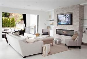 vancouver stone electric fireplace living room