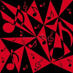 Vector Abstract Background With Music Notes Stock Vector ...