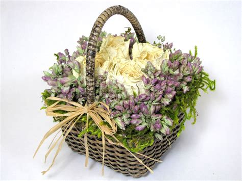 """Dry Flowers Decoration For Home: Dried Flower Arrangement """"Little Treasures"""", Dried Flowers"""