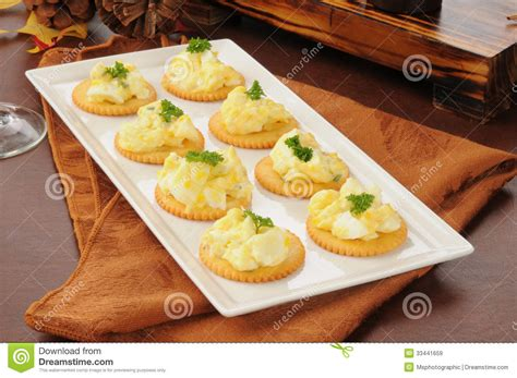 easy canape recipes nigella deviled egg appetizers stock image image of wheat