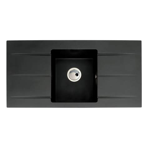 abode   bowl double drainer granite sink sinks