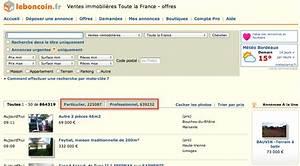 Leboncoin Toute La France : 74 des annonces immobili res leboncoin sont aliment es par les professionnels de l immobilier ~ Maxctalentgroup.com Avis de Voitures