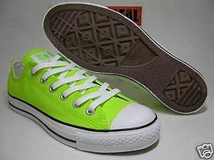 shoemandoo11 Concerse All Star Chuck Neon Green 1S208 Ox