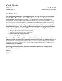 cover letter 187 bartender cover letter no experience free
