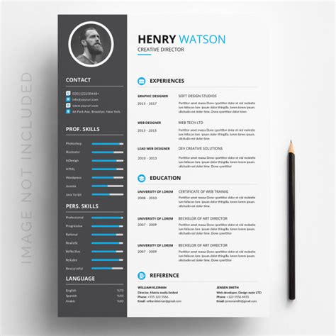 Free Resume Editing Software by White Cv Template With Blue And Grey Details Vector
