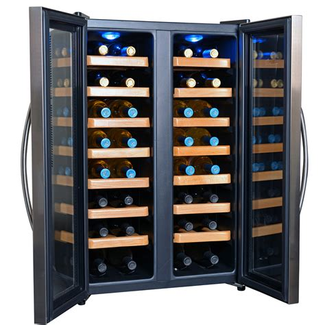 thermoelectric wine cooler aw 321ed newair 32 bottle dual zone zones thermoelectric