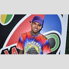 Chris Brown Attends Just Jared's 4th Annual Summer Bash