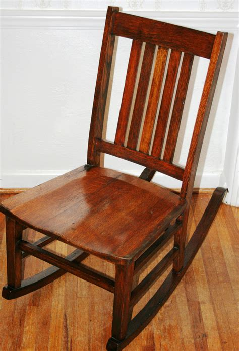 antique rocker craftsman mission style early american