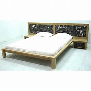 Tete De Lit Avec Tablette : vid o lit avec t te de lit tress e meuble d 39 indon sie ~ Teatrodelosmanantiales.com Idées de Décoration