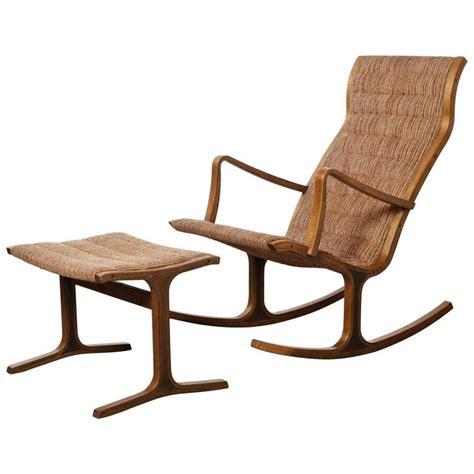 heron rocking chair and footstool by mitsumasa sugasawa