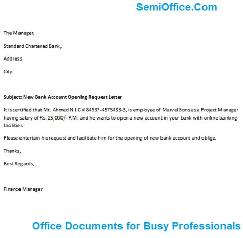 salary account opening request letter format howtoviews co