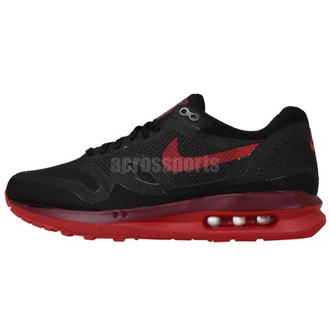 nike wmns air max lunar 1 wr water resistant black red