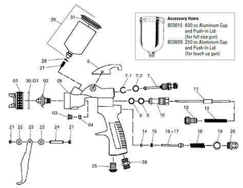 Startingline Hvlp Spray Gun Parts Diagram