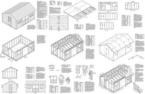 12x24 Shed Plans Materials List by Free Shed Building Plans 12x24 Images