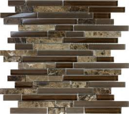 kitchen backsplash mosaic tiles sample brown glass linear mosaic tile wall kitchen backsplash spa ebay