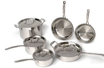 buy  berghoff earthchef premium copper clad  piece cookware set  deep discounted p
