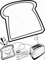 Bread Slice Toast Cartoon Drawing Clipart Coloring Toasted Template Pages Piece Clip Sheet Breakfast Musthavemenus Menu Sketch Toaster Holiday Let sketch template