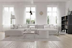 Nowoczesny biały salon Inspiracje i aranżacje - Blog