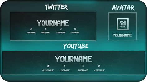 youtube banner twitter header template psd direct