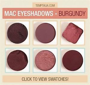 MAC Eyeshadow Swatches: Burgundy | Mac eyeshadow swatches ...