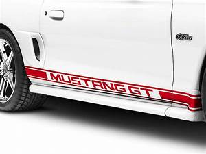 red mustang rocker stripes w mustang gt lettering 94 04 With mustang gt lettering