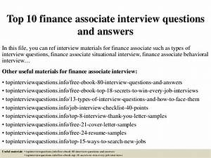 Top 10 finance ociate interview questions and answers