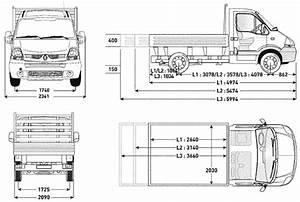 2007, Renault, Master, Dropside, Flatbed, Heavy, Truck, Blueprints, Free