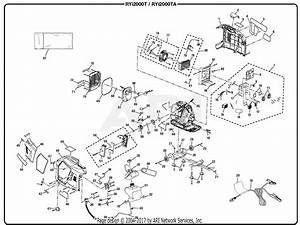 Homelite Ryi2000ta Digital Inverter Generator Parts