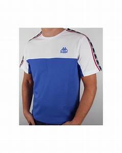 robe di kappa dunlin t shirt royal blue white mens kappa tee With tee shirt robe