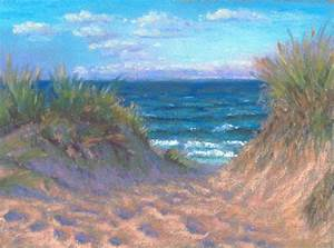 pastel painting daily painting seascape miniature