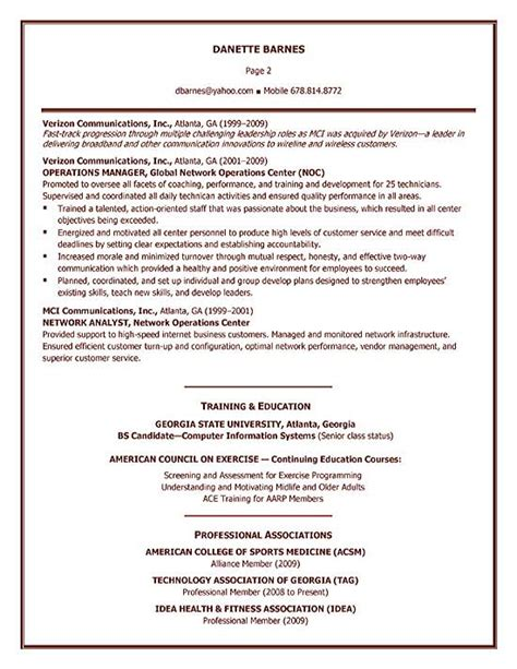Exle Of Personal Trainer Resume by Personal Trainer Resume Exle Sle