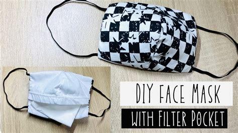 diy face mask  pocket  sewing machine youtube