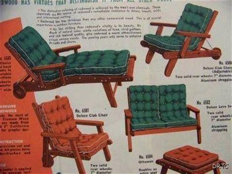 retro patio furniture ad patio decor redwood chaise lounge
