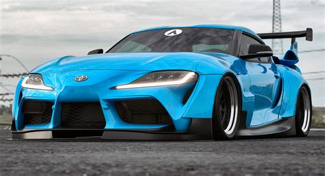 2020 Toyota Supra Widebody Wallpaper by This Is What The New Toyota Supra Looks Like With A
