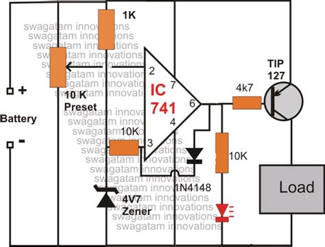 Cellphone Low Battery Cut Off With Indicator Circuit