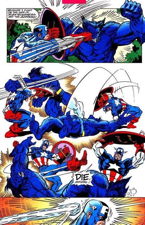 captain america  beast battles comic vine